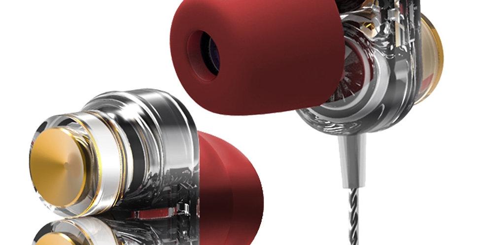 Genuine QKZ KD7 Earphones Dual Driver Sport Earphon Headset Hands Free With Mic