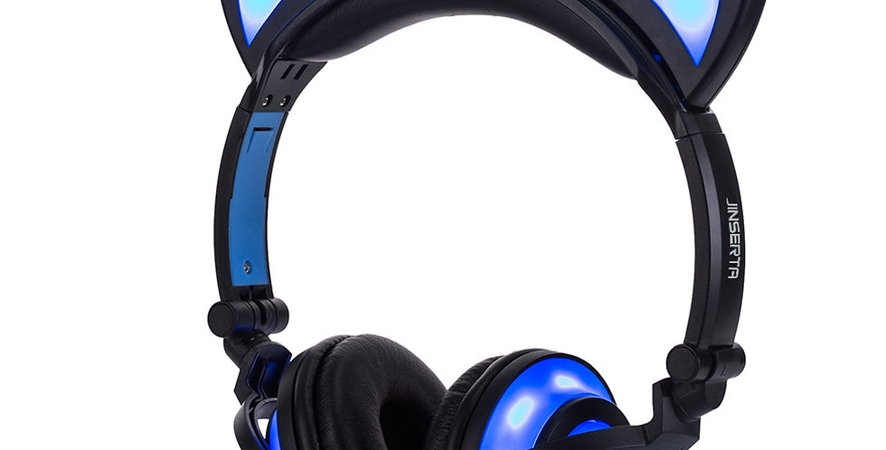 Cat Ear LED Headphone - Flashing Glowing Headset Gaming Earphones