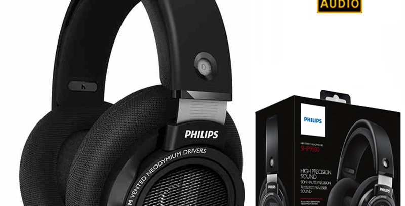 Philips SHP9500 - Headphones - full size - wired - 3.5 mm jack - black