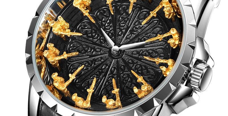 ONOLA Brand Unique Quartz Watch Man Luxury Rose Gold Leather
