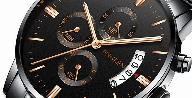 Fashion Black Relogio Masculino Luxury Brand Analog Sports Watch Quartz Clock