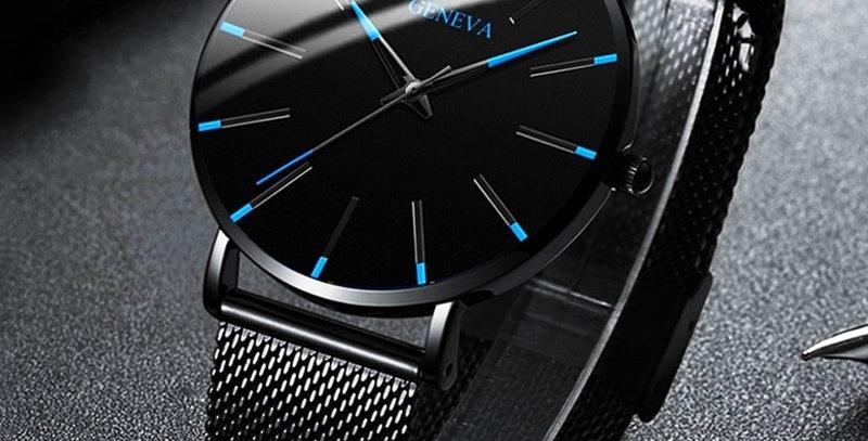 2021 Minimalist Men's Fashion Ultra Thin Watches