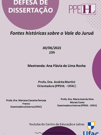 Defesa de Ana Flavia de Lima Rocha