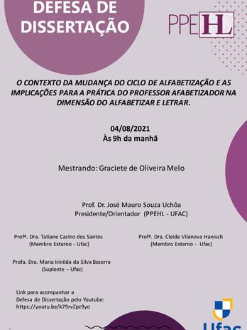 Defesa de Graciete de Oliveira Melo