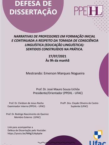 Defesa de Emerson Marques Nogueira