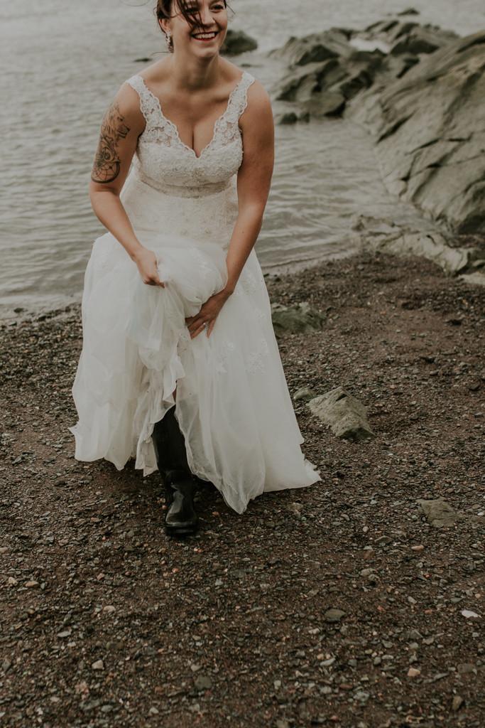 Mariage Fleuve St-Laurent, Cap Rouge, QC - Aura Photographie