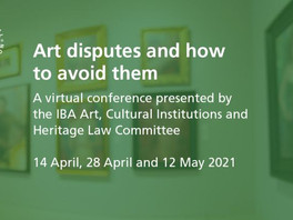 14 April 2021 | Art disputes and how to avoid them