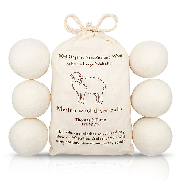 Woballs - Merino Wool Dryer Balls with 6 Laundry Tips Included