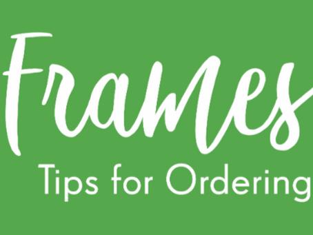 Tips for Ordering Custom Frames