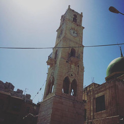 The clock tower in Hebron