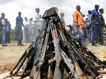 Weapons are Burned in Burundi in Disarmament Efforts