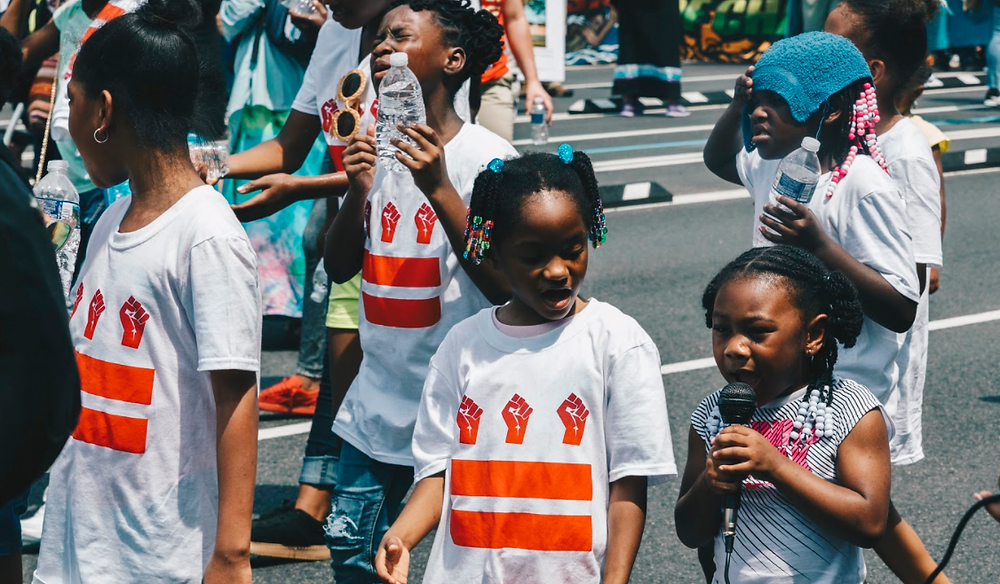 children at the climate march
