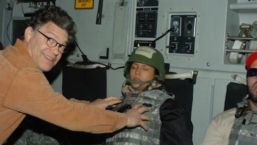 Al Franken steps down after images of him groping female members of the military press corp go public. https://www.theatlantic.com/politics/archive/2017/11/franken-allegations/546092/