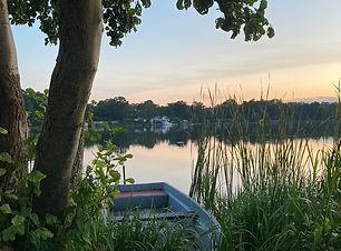 See in Lychen bei Sonnenuntergang