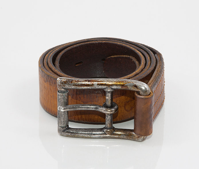 Military Belt 1950 Used Camel Brown