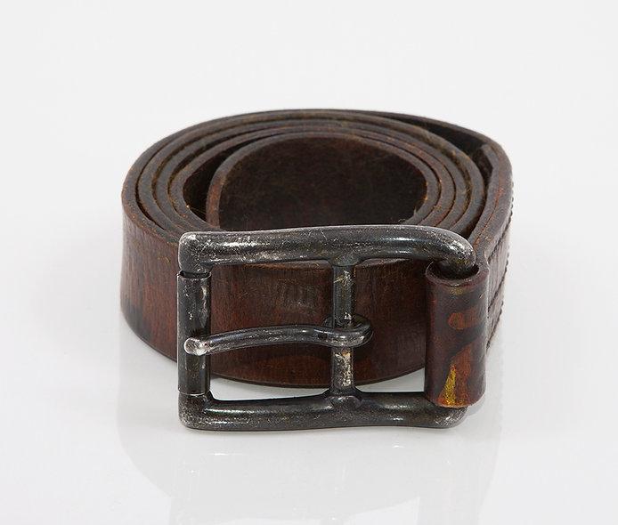 Military Belt 1950 Used Black Brown
