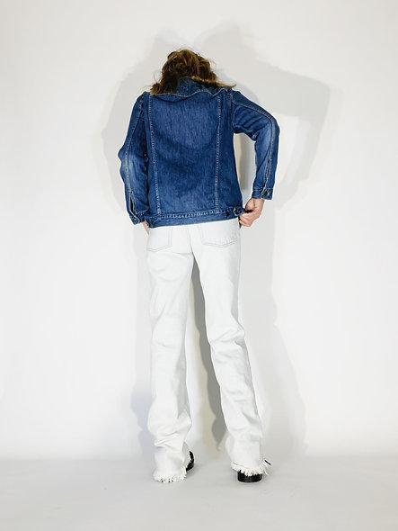1960 American Jeans White Blue