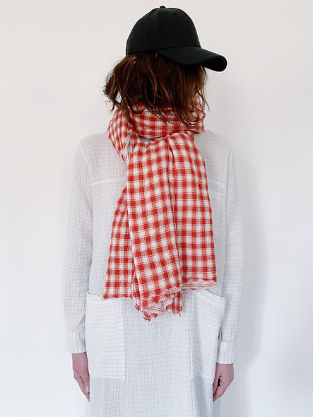 Scarfy Torchon Crepon Red