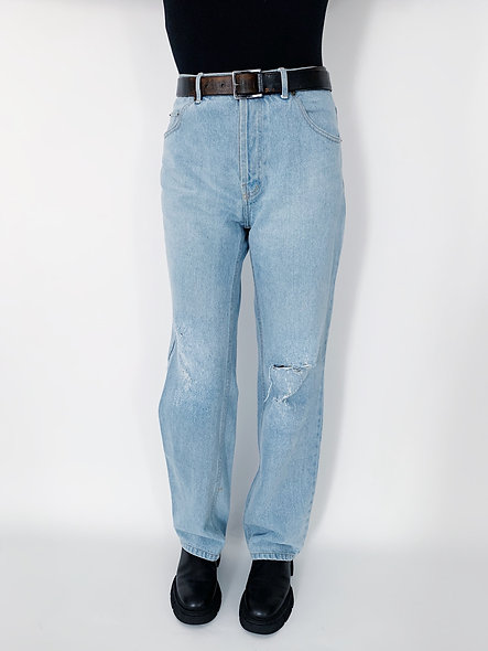 New US. Jeans 80 Bleach Blue Holes.