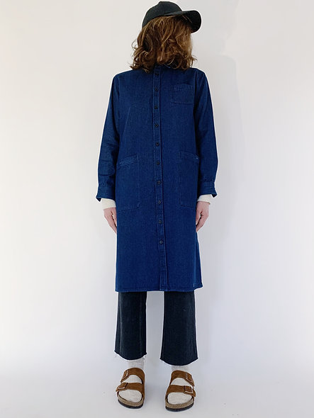 New Work Jeans Coat Indigo Blue