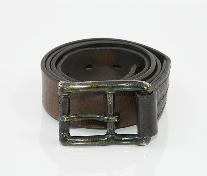 Military Belt 1950 Used Black Stone