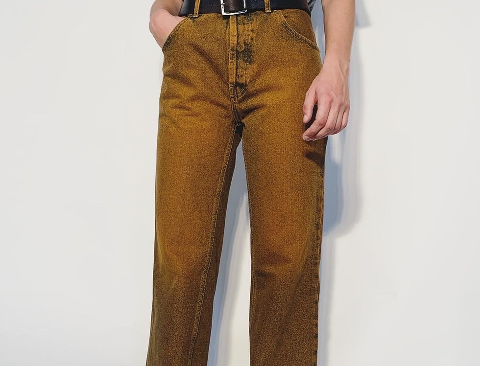 New 1980 UK Jeans Orange Blue