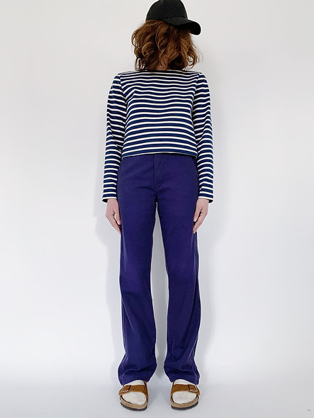 New Work Pant UK. Navy Purple