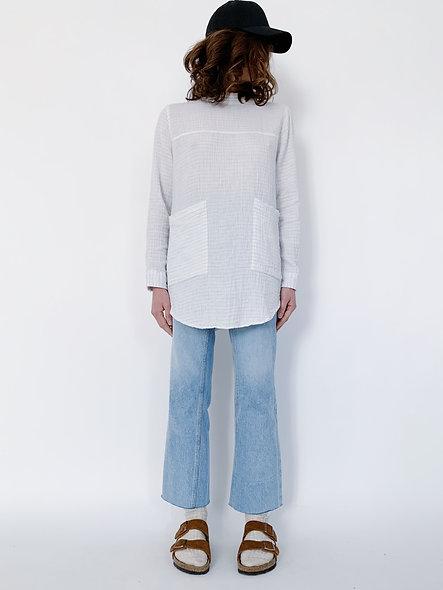 Hyro Crepon Faded Blanc