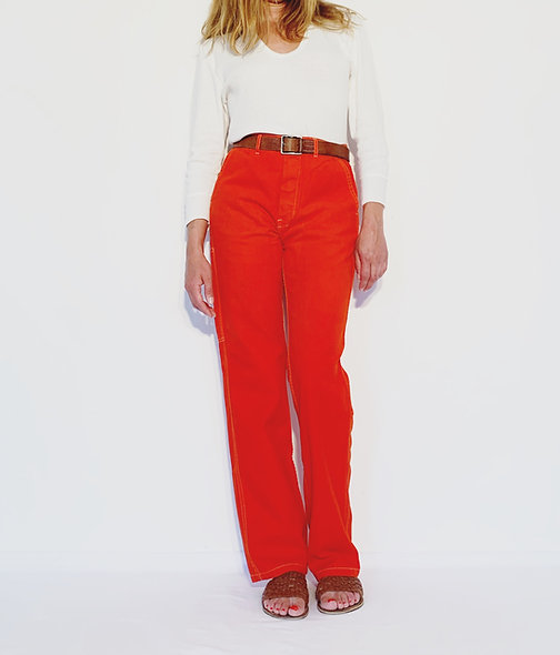 Work Pant UK Red Orange