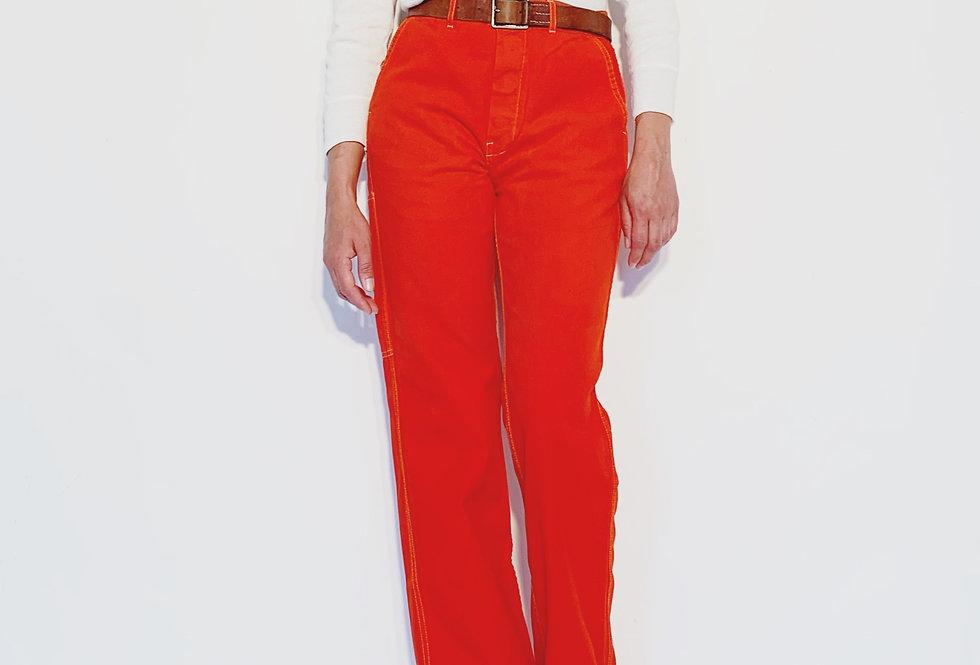 Work Pant UK Red Orange