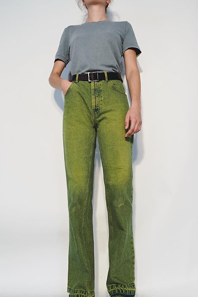 New 1980 UK Jeans Yellow Blue