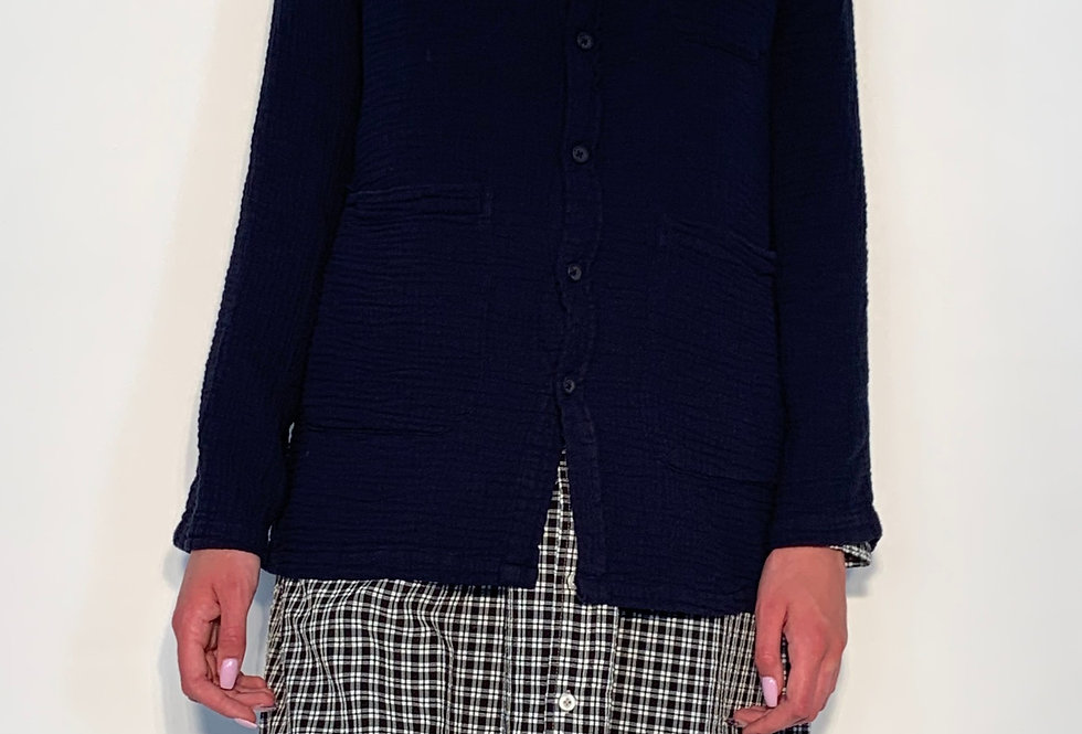New Work Jacket Crepon Night Blue