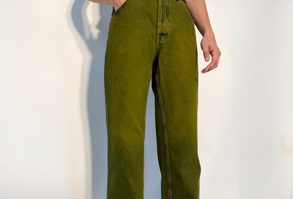 New 1980 UK Jeans Kaki Blue