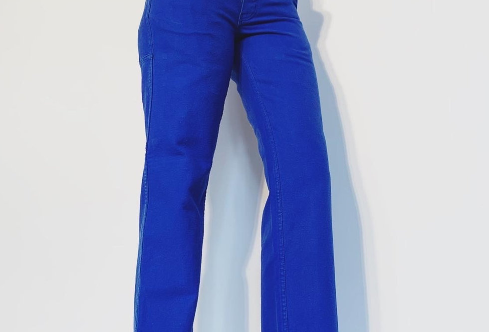 New French Work Pant Blue Royal