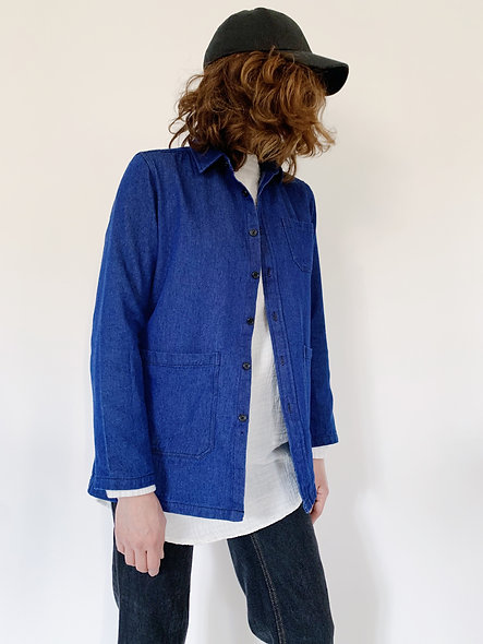 New Work Jeans Jacket Indigo Blue
