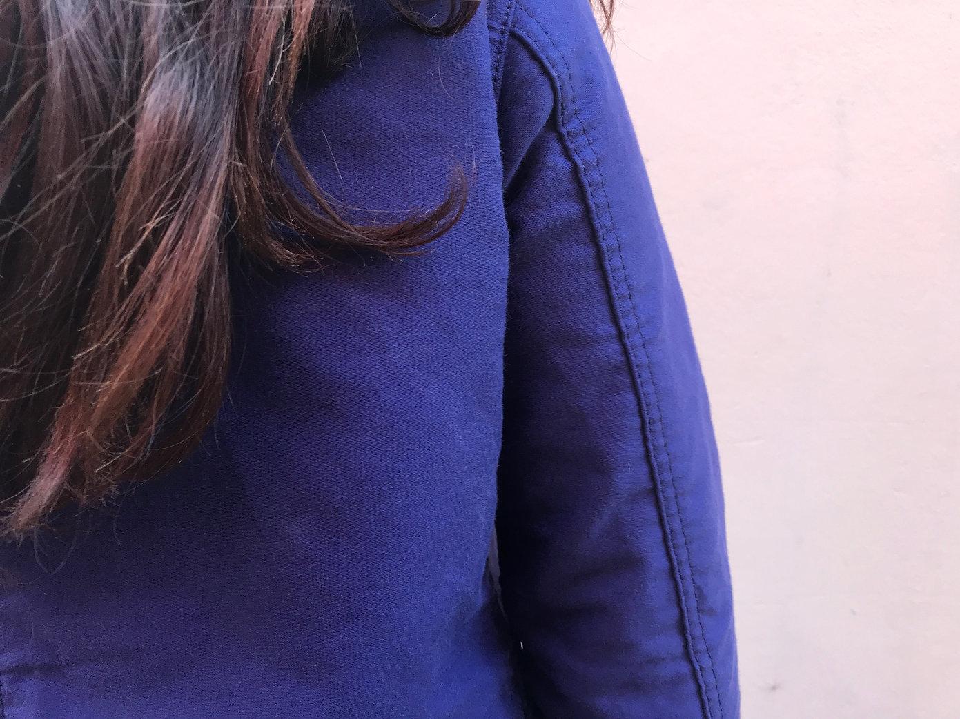 Pantalon de travail vintage 100% coton sergé, Moleskine 100% coton, Veste de travail vintage, bleu de travail vintage