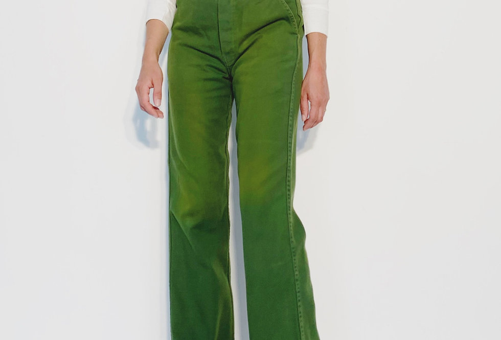 Wholesale Work Pant UK Green / Yellow