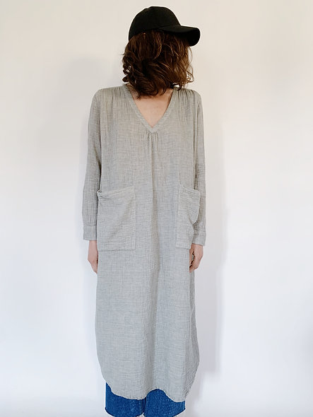 Magda Crepon Faded Gris