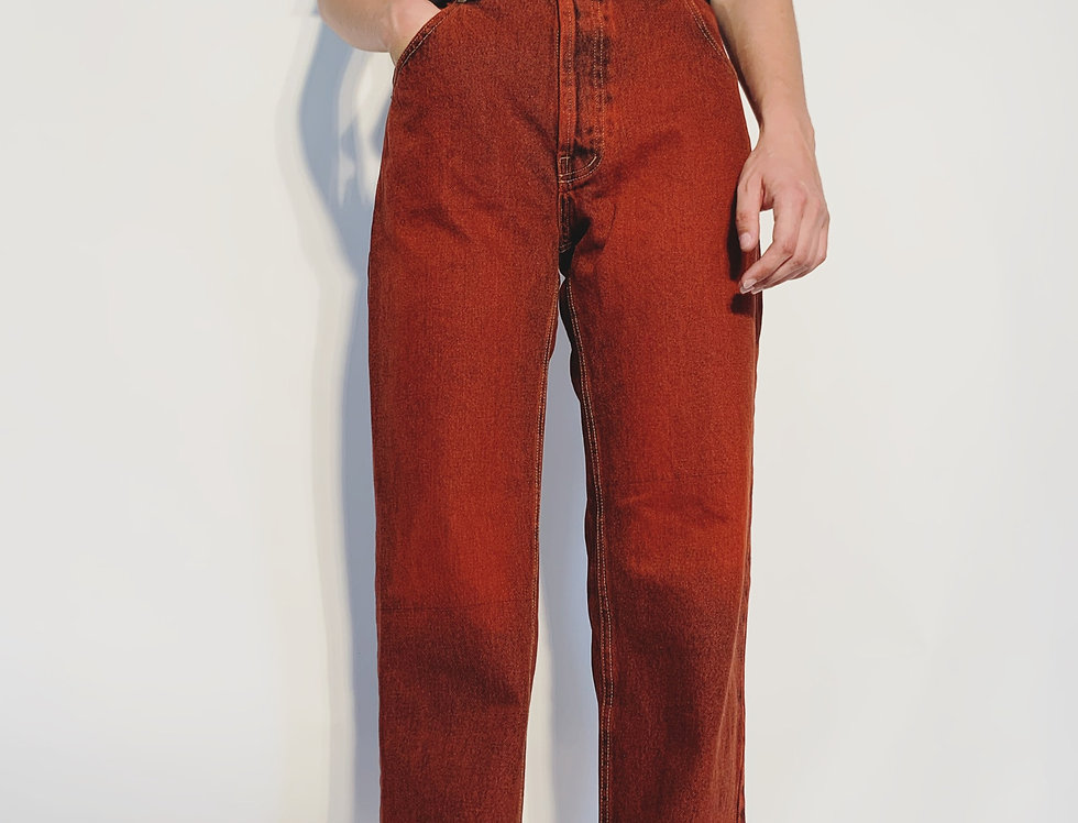 New 1980 UK Jeans Red Blue