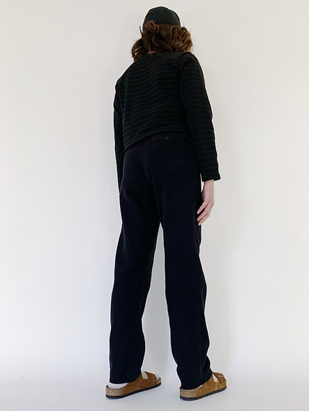 New Check Cookie Pant Black Wash
