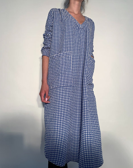 New Maggy Vichy Gaufre French Blue