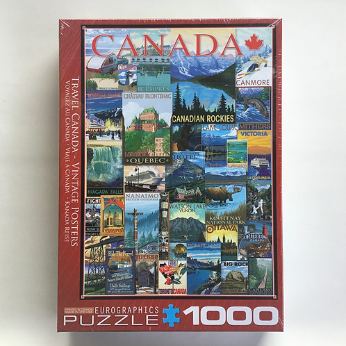 Puzzle, C.P., Travel Canada Vintage Posters