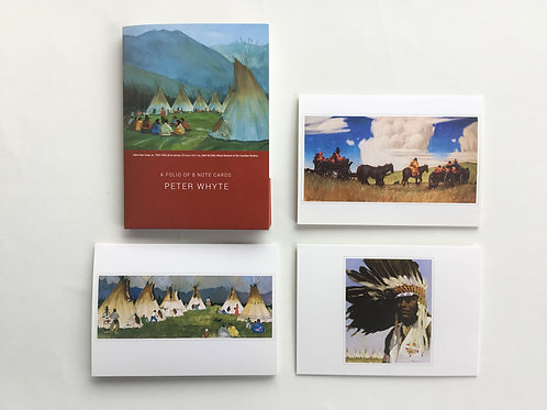 Notecards, Peter Whyte, Indian Camp Days