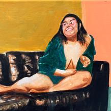 """Beauty Icon (Icono de la belleza) No.2, acrylic on canvas, 8"""" x 9"""""""