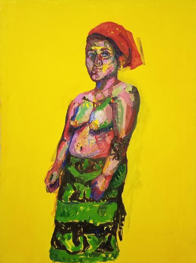 "Guna 1, oil on canvas, 40"" x 30"", 2019"