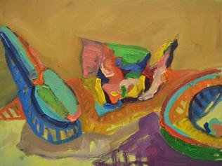 La servilleta, el plato y el aguacate