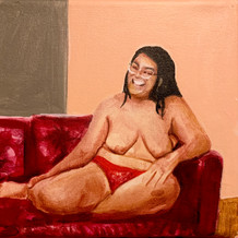 """Beauty Icon (Icono de la belleza), acrylic on canvas, 8"""" x 9"""", 2020"""
