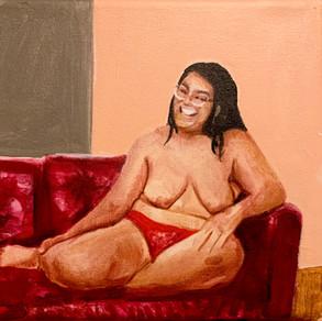 """Icono de la belleza No.3 (Beauty Icon), acrylic on canvas, 8"""" x 9"""", 2020"""