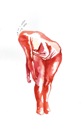 """12, watercolor on paper, 15"""" x 11"""", 2018"""