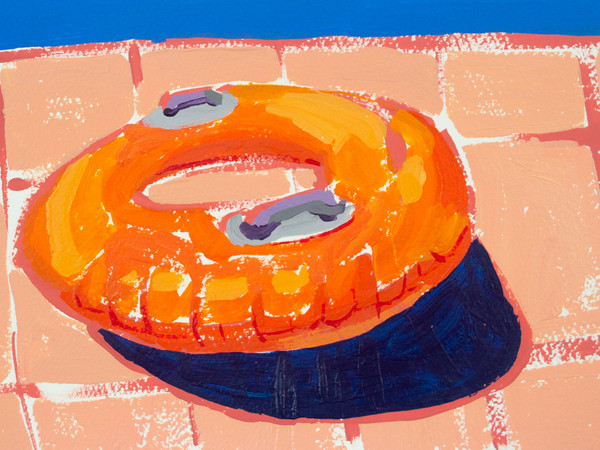 "Lifesavers 04, acrylic on paper, 9"" x 6"", 2020"